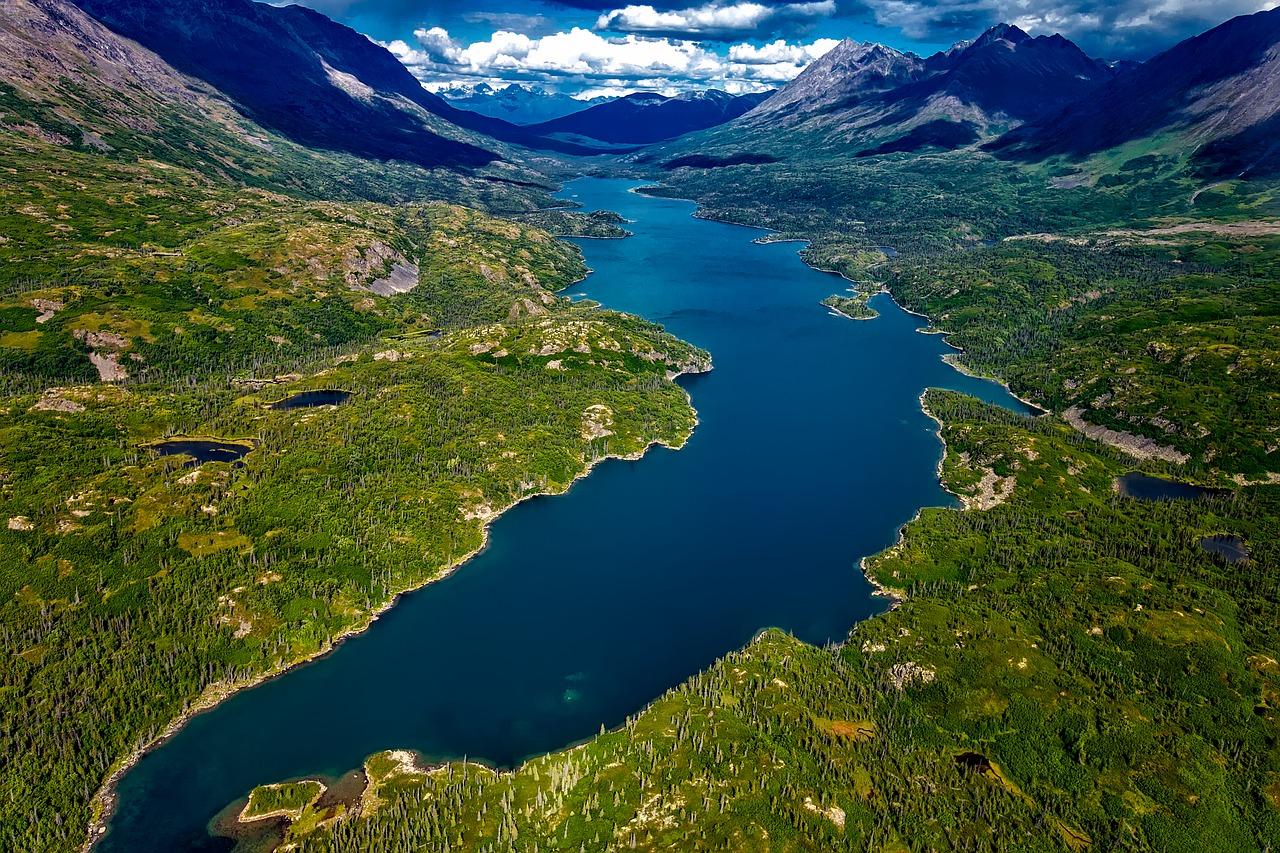 Luftbild irgendwo in Alaska